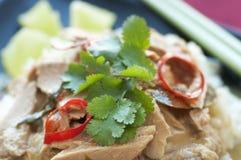 Pescados verdes tailandeses del curry Fotos de archivo libres de regalías