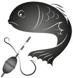 Pescados y artes de pesca Fotografía de archivo libre de regalías