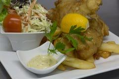 Pescados y Chips Meal Foto de archivo libre de regalías