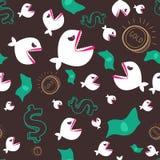 Pescados y dinero enojados Foto de archivo libre de regalías