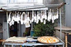 Pescados y huevos que se secan en sol fotografía de archivo libre de regalías