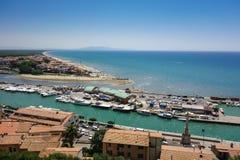 Pescaia di della di Castiglione, Toscana, Italia Immagini Stock Libere da Diritti