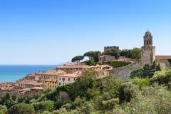 Pescaia van Castiglionedella, Toscanië, Italië stock fotografie
