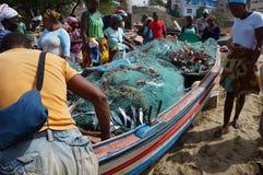 Pescando in Africa Fotografie Stock