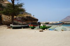 Pescando in Africa Fotografia Stock