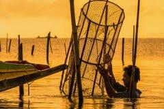 Pescando a armadilha Foto de Stock