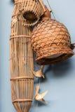 Pescando a armadilha usada para travar peixes em Tailândia Fotografia de Stock