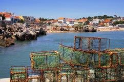 Pescando armadilhas Fotografia de Stock Royalty Free