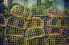 Pescando armadilhas Fotos de Stock