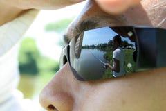 Pescando a atividade ao ar livre Fotografia de Stock Royalty Free