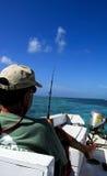 Pescando a Belize America Centrale Fotografie Stock Libere da Diritti