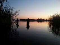 Pescando in Bielorussia Fotografia Stock