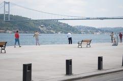 Pescando in Bosphorus Immagine Stock Libera da Diritti