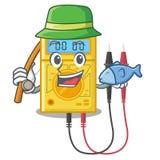 Pescando brinquedos do multímetro digital na forma dos desenhos animados ilustração stock