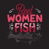 Pescando citazione e dire buone per le collezioni di progettazione royalty illustrazione gratis