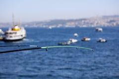 Pescando a Costantinopoli Fotografia Stock Libera da Diritti