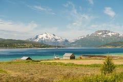 Pescando e coltivare in Lofoten Immagini Stock Libere da Diritti
