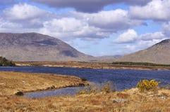 Pescando e facendo un'escursione paesaggio Immagini Stock Libere da Diritti