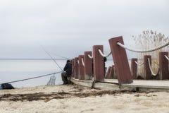Pescando in Estonia Immagini Stock