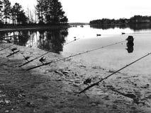 Pescando il giorno di distanza Fotografie Stock Libere da Diritti