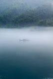 Pescando in mattina Fotografia Stock