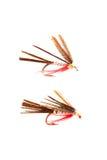 Pescando moscas Imagem de Stock
