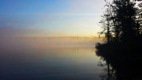 Pescando 5 na manhã Foto de Stock Royalty Free