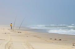 Pescando in Namibia Immagini Stock Libere da Diritti