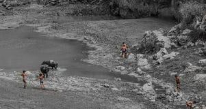 pescando nei bambini Fotografia Stock Libera da Diritti