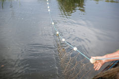 Pescando nel Danubio Immagine Stock Libera da Diritti