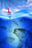 Pescando nel lago Fotografie Stock Libere da Diritti