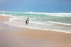 Pescando nel Senegal immagini stock