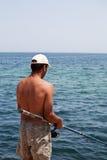 Pescando nell'oceano Immagine Stock Libera da Diritti
