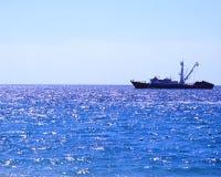 Pescando nell'oceano Fotografia Stock Libera da Diritti