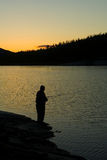 Pescando in Norvegia immagini stock libere da diritti