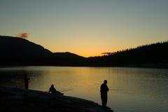 Pescando in Norvegia Fotografia Stock