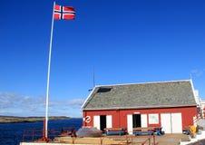 Pescando in Norvegia, Mare del Nord Immagini Stock Libere da Diritti