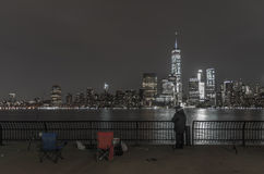 Pescando in NYC Fotografia Stock Libera da Diritti