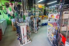 Pescando o equipamento Durban da loja Imagem de Stock
