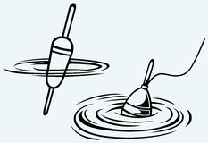 Pescando o flutuador ilustração do vetor