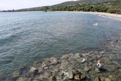 Pescando o mar aberto largo Imagem de Stock Royalty Free