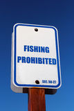 Pescando o sinal proibido Fotos de Stock