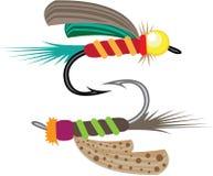 Pescando o vetor da mosca Imagens de Stock Royalty Free