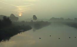 Pescando in primo mattino Fotografie Stock
