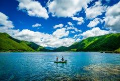 Pescando sotto la nuvola Immagini Stock Libere da Diritti