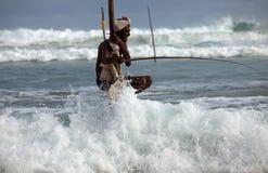 Pescando in Sri Lanka immagini stock libere da diritti