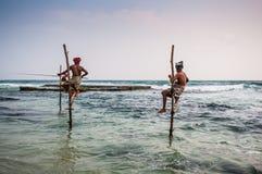 Pescando in Sri Lanka Immagine Stock Libera da Diritti