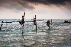 Pescando in Sri Lanka Fotografia Stock
