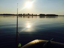 Pescando sul fiume Immagine Stock Libera da Diritti