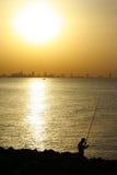 Pescando sul golfo arabo Immagine Stock Libera da Diritti